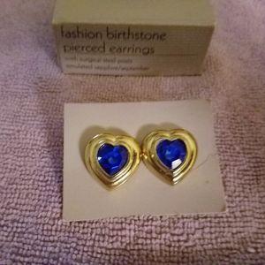 Vintage Avon Fashion Birthstone Pierced Earrings